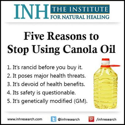 Is Canola Oil Dangerous For Your Health? oils in the preparation